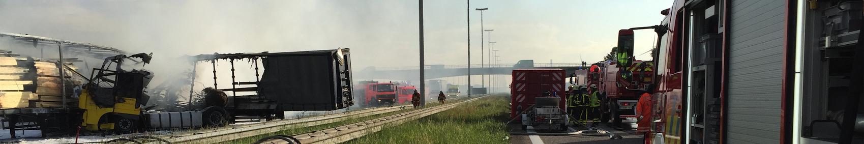 Ongeval E19 Brecht Zone Rand